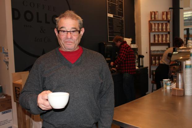 Business was bustling during Dollop Coffee & Tea's first morning operating its newest location in Streeterville.