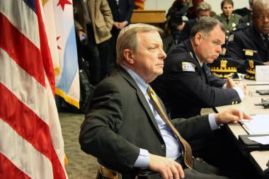 Sen. Dick Durbin (D-Ill.) and Chicago Police Supt. Garry McCarthy were among the participants at a roundtable discussion on gun violence.