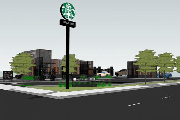 A drive-thru Starbucks with a walk-up window would be built at Devon Avenue and North Broadway.