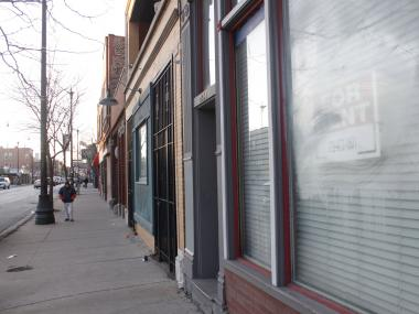 Stretches of Armitage Avenue are lined with empty storefronts, which SLAC hopes to turn into artist studios.