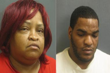 Lisa Terry and her son, Maurice, 22, were arrested Thursday night and charged with drug dealing to Evanston residents, police said.
