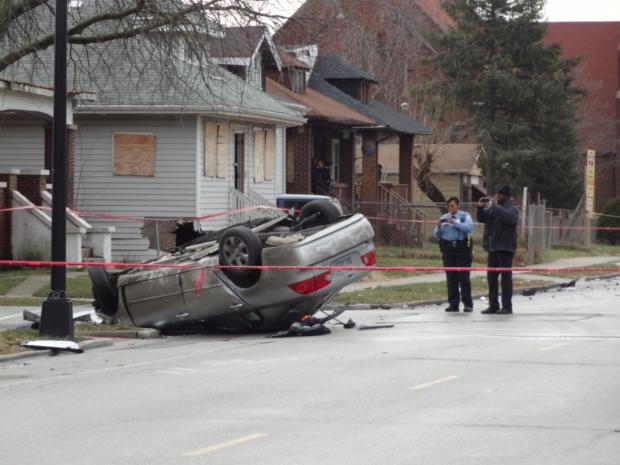 Three people were killed when a car flipped over in Roseland on Jan. 12, 2013.