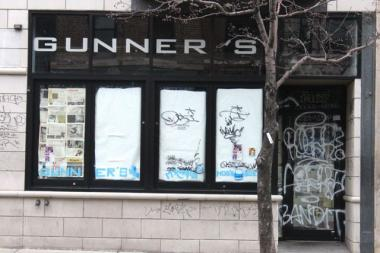 Gunner's bar, 1467 N. Milwaukee Ave., was hit with graffiti tags over the New Year's weekend. On Sunday, three men were arrested at 2:30 a.m. as they allegedly defaced property across from Gunner's, at 1482 N. Milwaukee Ave.