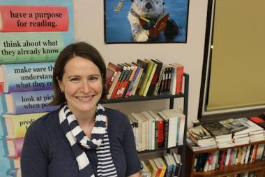 Janet Allen, 31, is an English teacher at Lake View High School who is aiming to raise money for home libraries for teen mothers.