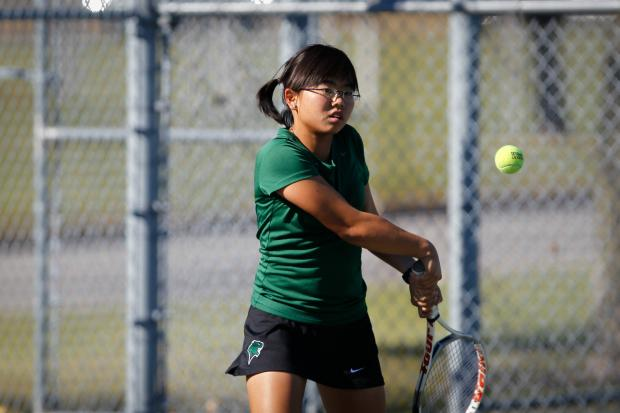Karyn Emeralda is the No. 1 singles player at Chicago State.