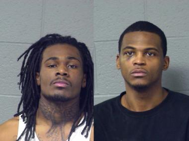 Kevin Walton, 20, (l.) and Darryle Bolen, 28, were arrested Saturday after police found weapons and drugs at their homes during parole checks.