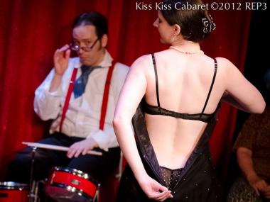 Kiss Kiss Cabaret will celebrate its 100th show on its second anniversary Friday night at the Greenhouse Theater.