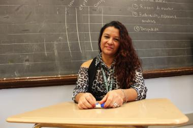 Luz Andreu's tenure at Senn High School now stretches over 16 years.