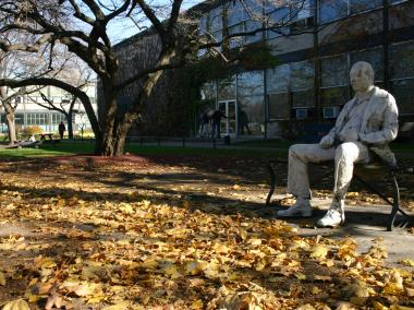 "The ""Man on a Bench"", a scultpure created by George Segal, is the smallest Chicago Park District park."
