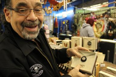 Mark Thomas, owner of counterculture stores in Lakeview, is debuting an upscale, organic jewelry line.