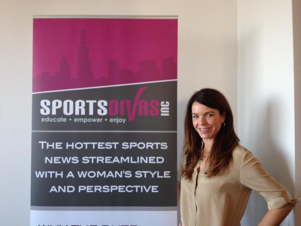 The SportsDivas Inc. website caters to Chicago's female sports fans.