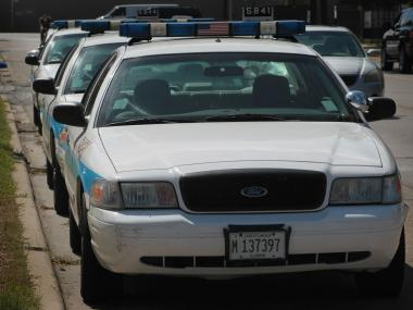 Police said about 20 cars were found with broken windows Monday morning in the South Loop.