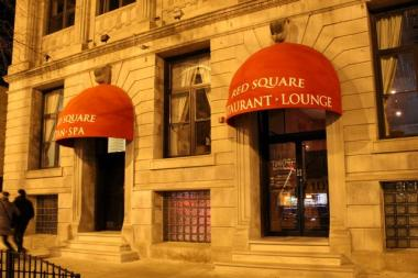 Red Square is a cafe, restaurant, lounge, spa, tanning and steam bath complex at 1914 W. Division St.  Owner Alex Loyfman said that Red Square plans to officially open once it obtains its liquor license, which is expected to happen before Friday, Jan. 18.