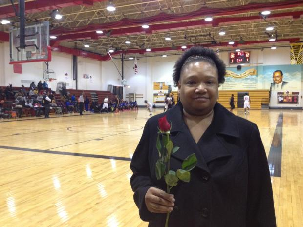"Robeson High School's basketball team received a sizeable donation from the Rose Foundation, led by Bulls superstar Derrick Rose. To honor Rose, the team passes out roses before home games and wears a ""Rose #1"" patch on their warmup uniforms."