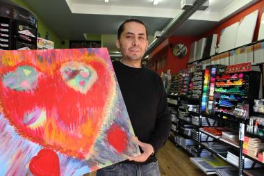 Art supply store opens on 18th Street.