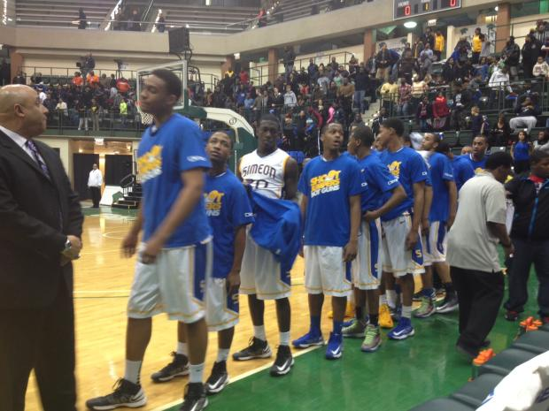 Simeon faced Whitney Young at Chicago State on Jan. 26, 2013.