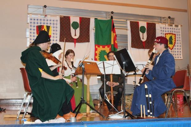 More than 100 people gathered in a Portage Park church to recreate the medieval era.