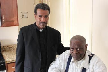 The Rev. Anthony Williams, left, a candidate for the 2nd Congressional District, was contacted by Vietnam War Veteran Sonny Cooper, for financial assistance following a reduction in his monthly disability check since the 2nd District currently has no congressman.