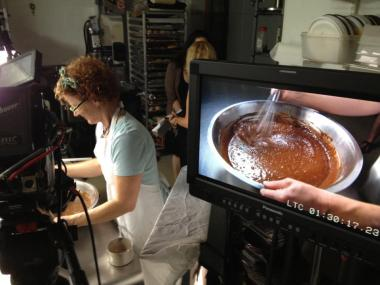 "Angel Food owner and pastry chef Stephanie Samuels is used to having cameras in her kitchen. She was filmed in July 2012 during a shoot for the Cooking Channel's ""Unique Sweets."""