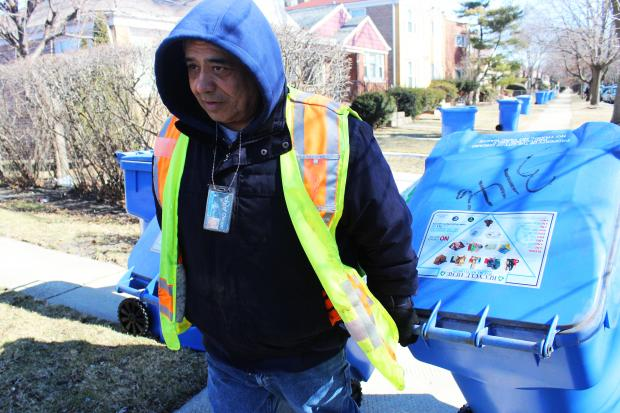 The city's blue cart recycling program will expand citywide by the end of 2013, Mayor Rahm Emanuel said.