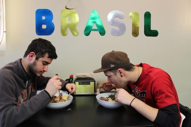 Students in Chicago for a Brazilian exchange program trek to East Lakeview's Brazilian Bowl restaurant weekly for a taste of home.