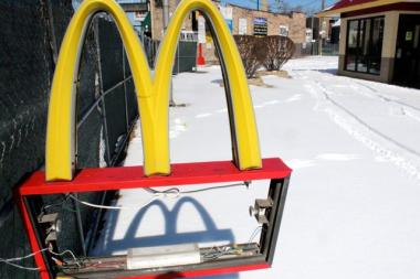 Built in 1983, the McDonald's at 1951 N. Western Ave. is expected to be demolished Monday. Graffiti artists broke into the site and made their mark on three of four walls recently. A new McDonald's will open in June, according to a sign.