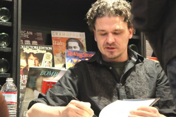 Author Dave Eggers meets fans at The Book Cellar.