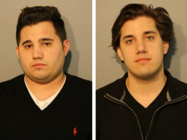 Brothers William, 24, and Spiro Douvris, 22, were charged with a hate crime in the Tuesday night attack on a cabdriver in Lincoln Park.