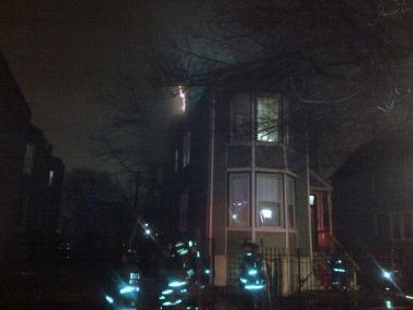 A woman was injured in a fire in Englewood Monday night, the Chicago Fire Department said.