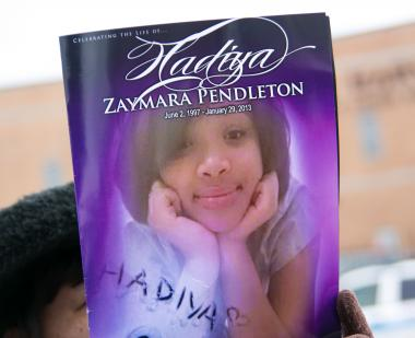 The program for Hadiya Pendleton's funeral service held on Feb. 9.