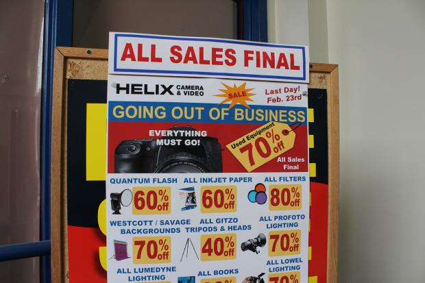 After 49 years in business, Helix Camera will close its doors at 310 S. Racine.