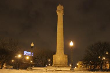 Logan Square Preservation plans to use a state grant to install spotlights at the Illinois Centennial Monument.