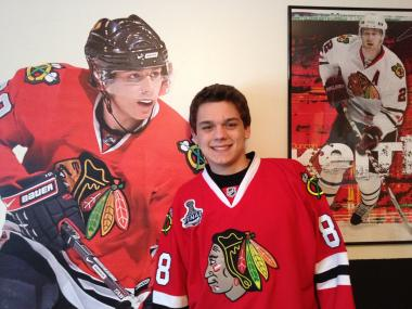 "Lake Central High School senior Joel Miller created the Facebook page ""I bet the Blackhawks can get 1 million fans before any other NHL team!"". The site has more than 132,000 ""likes""."