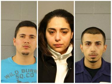 Jose Pelayo-Aguilar, Patricia Sugey and Roger Zeni were arrested and charged after police found 79 kilograms of cocaine and more than $500,000 cash in Pelayo-Aguilar's McKinley Park home, according to court documents.