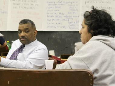 McClellan Elementary principal Joseph Shoffner at a recent local school meeting.