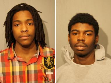 Kenneth Williams (left) and Michael Ward were charged in the murder of Hadiya Pendleton.