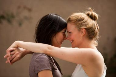 "The Swedish film ""Kyss Mig"" or ""Kiss Me,"" is about two women in their 30s who meet at their parent's engagement party."