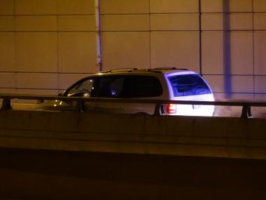 A woman was found fatally shot in a minivan on a Lake Shore Drive off-ramp Friday morning.