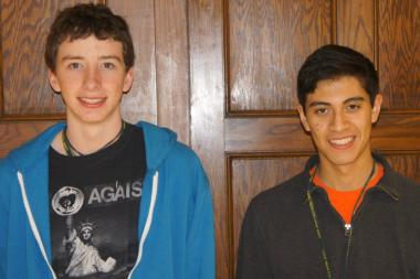Lane Tech High School students Ronan King and Angel Estrella won a trip to Frank Lloyd Wright's home and studio in Arizona.