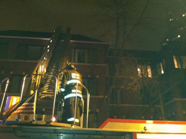A fire broke out at 438 W. Deming Place on Monday in Lincoln Park.