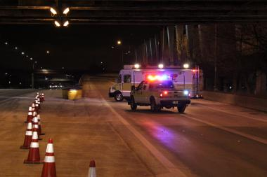 A woman was found fatally shot on Lake Shore Drive Friday morning.