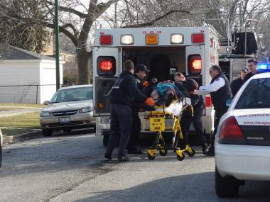 Police say a 14-year-old boy was shot Sunda, March 24, 2013, in McKinley Park.