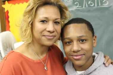Shauna Winston is not only a math teacher at St. Dorothy Catholic Elementary School on the South Side, she is also LeGrain Winston's mom and seventh grade math teacher.