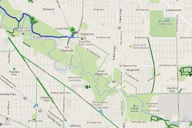 Maps of the North Branch Trail and North Shore Channel Trail