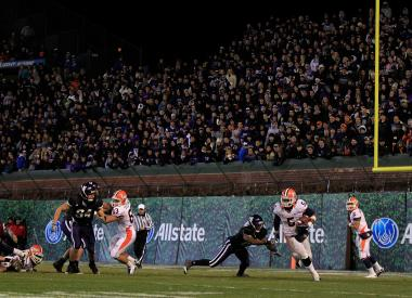 Northwestern took on Illinois at Wrigley Field in 2010.