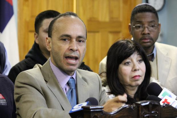Rep. Luis Gutierrez (D-Chicago) at a Feb. 13, 2013 press conference, saying handguns and unemployment are to blame for Chicago's gun violence.