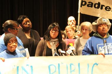 Coonley School parent Rhoda Rae Gutierrez said the only way for CPS to earn community trust is to declare a moratorium on school closings.