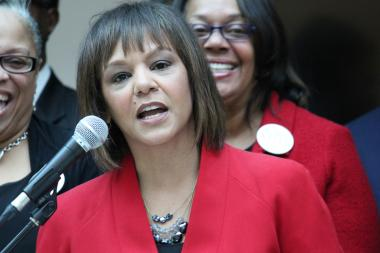 "Robin Kelly lashed back that Halvorson's campaign had reached ""a new level of desperation."""
