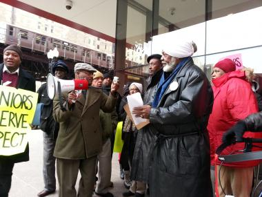 Senior Citizens Protest CHA About Living Conditions