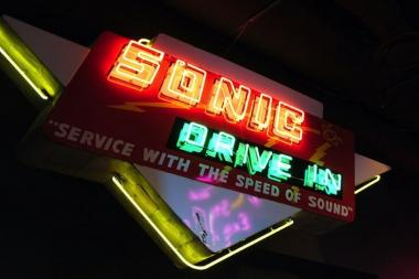 Sonic Drive-Ins feature carhop service, Coney dogs and Cherry Limeades.